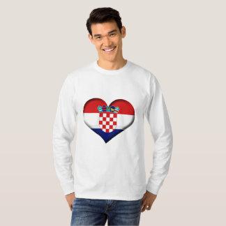 Croatia Heart Flag T-Shirt