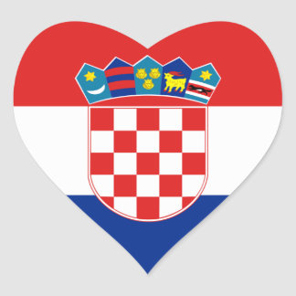 croatia heart sticker