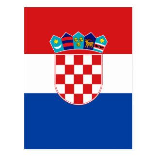 Croatia High quality Flag Postcard
