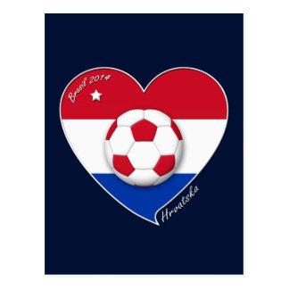 Croatia HRVATSKA Soccer Team Fútbol Croacia 2014 Tarjeta Postal