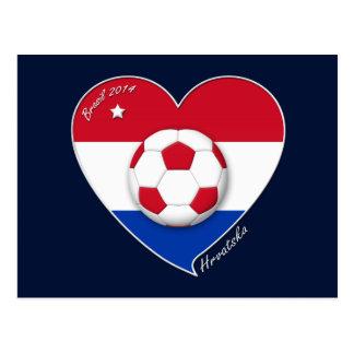 Croatia HRVATSKA Soccer Team Fútbol Croacia 2014 Postales