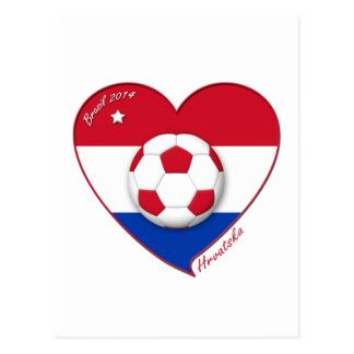 Croatia HRVATSKA Soccer Team Fútbol Croacia 2014 Postal