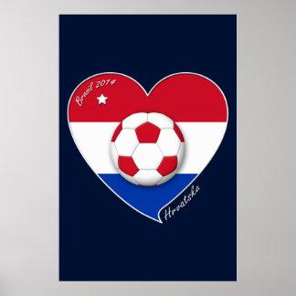 "Croatia ""HRVATSKA"" Soccer Team Soccer the Croatia  Print"