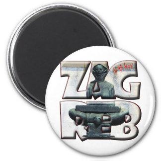 Croatia Hrvatska Zagreb 18A Popular Accessory 6 Cm Round Magnet