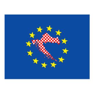 Croatia in EU Postcard