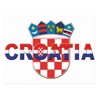 Croatia logo Sahovnica 3D 3 color Post Card