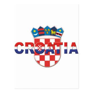 Croatia Logo Sahovnica 3D 3 color Postkarten