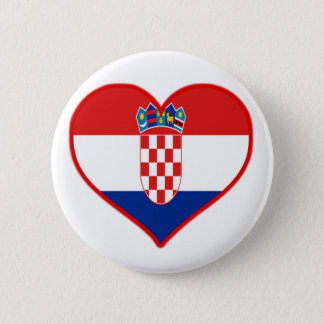Croatia Love 6 Cm Round Badge