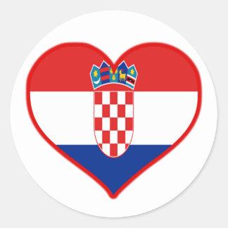 Croatia Love Classic Round Sticker