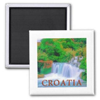 Croatia Square Magnet