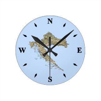 Croatia Map Clock