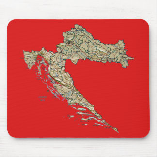 Croatia Map Mousepad