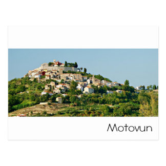Croatia - Motovun - Adriatic sea Postcard