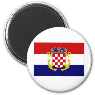 Croatia Naval Ensign Flag 6 Cm Round Magnet