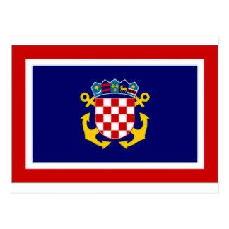Croatia Naval Jack Postcard