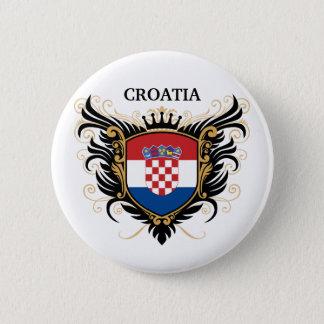 Croatia [personalize] 6 cm round badge