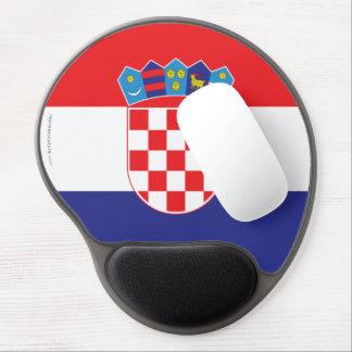 Croatia Plain Flag Gel Mouse Mat