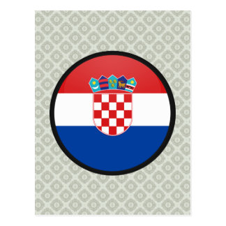 Croatia quality Flag Circle Post Cards
