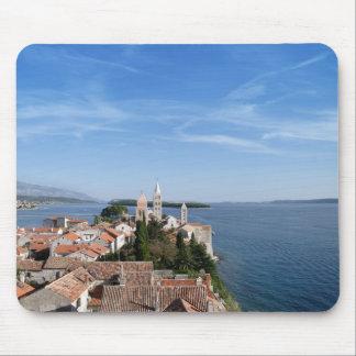 Croatia, Rab island and town Mouse Pad