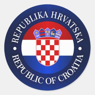Croatia (rd) classic round sticker