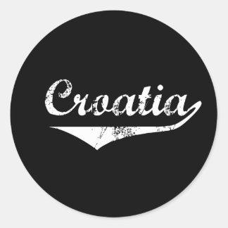 Croatia Revolution Style Classic Round Sticker