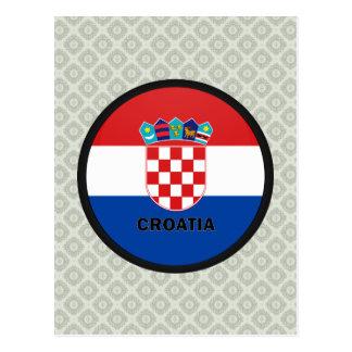 Croatia Roundel quality Flag Postcard