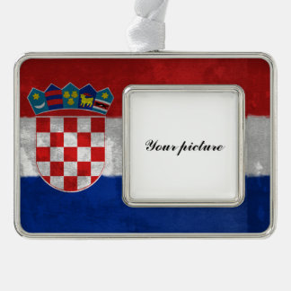 Croatia Silver Plated Framed Ornament