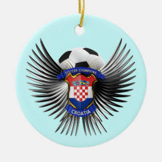 Croatia Soccer Champions Christmas Ornament