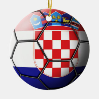 Croatia Soccer Ornament