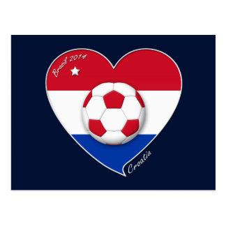 """CROATIA"" Soccer Team 2014. Soccer of the Croatia Postcard"