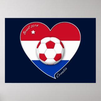 """CROATIA"" Soccer Team 2014. Soccer of the Croatia Poster"