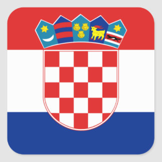 croatia square sticker
