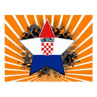 Croatia Star Postcard