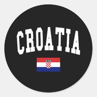 Croatia Style Classic Round Sticker