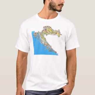 Croatia touristic map, hrvatska turistička mapa T-Shirt
