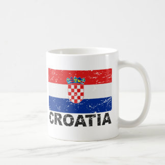 Croatia Vintage Flag Coffee Mug