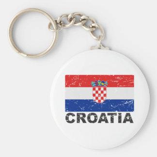 Croatia Vintage Flag Key Ring
