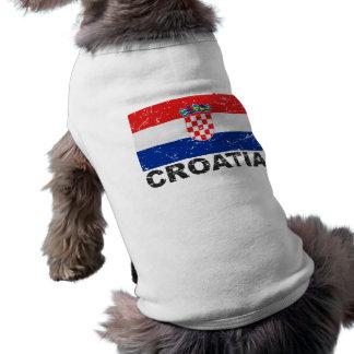 Croatia Vintage Flag Shirt