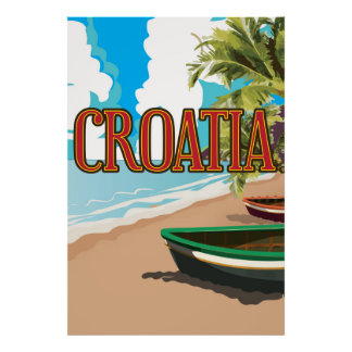 CROATIA vintage travel poster