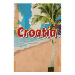 Croatia Vintage travel poster