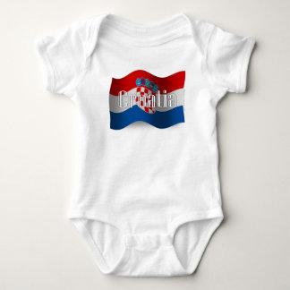 Croatia Waving Flag Baby Bodysuit
