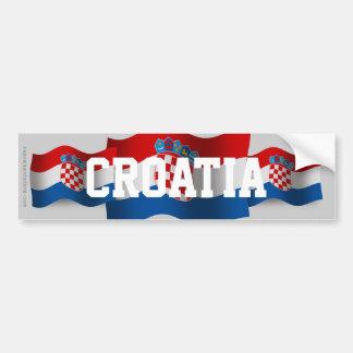 Croatia Waving Flag Bumper Sticker