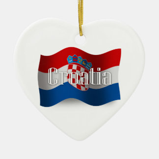 Croatia Waving Flag Christmas Ornament