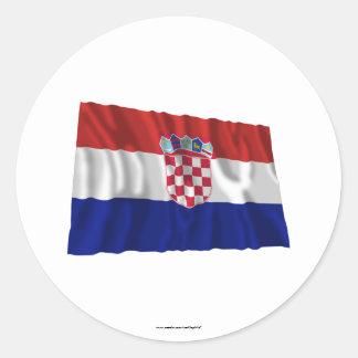 Croatia Waving Flag Classic Round Sticker
