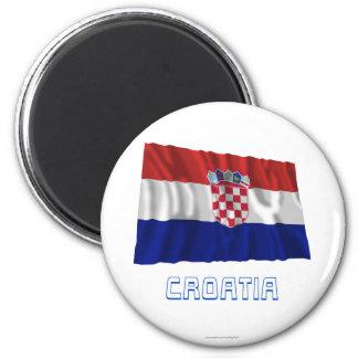 Croatia Waving Flag with Name Magnet