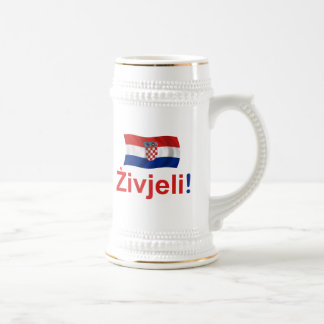Croatia Zivjeli! (Cheers) Beer Stein