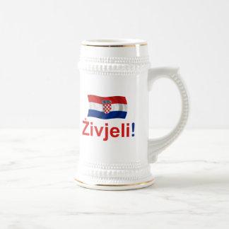 Croatia Zivjeli! (Cheers) Beer Steins