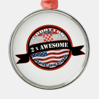 Croatian American 2x Awesome Christmas Ornament