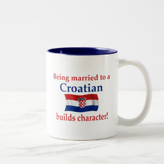 Croatian Builds Character Two-Tone Coffee Mug
