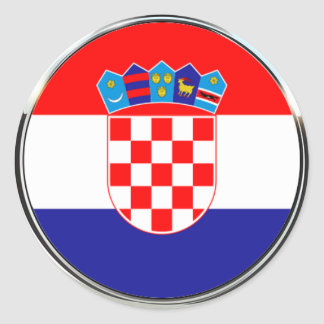 Croatian Coat of Arms | Hrvatski grb Classic Round Sticker